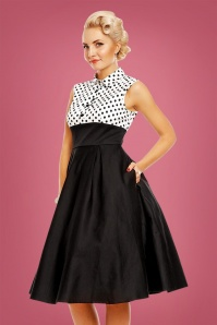Dolly and Dotty Black and White Swing Dress 102 14 22959 20171128 01