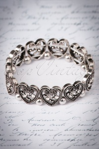 Kaytie Antique Silver Bracelet with Hearts 310 92 22947 20171129 0007w