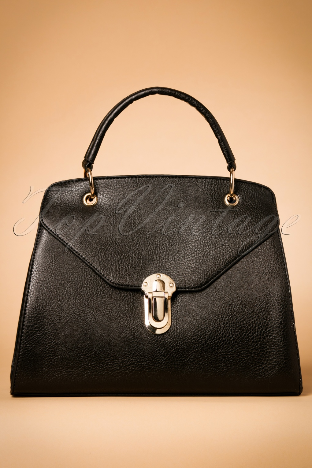 Vintage & Retro Handbags, Purses, Wallets, Bags 60s Classy Jane Handbag in Black £30.52 AT vintagedancer.com