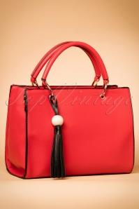 Tassel on My Handbag Années 60 en Rouge