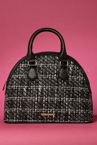60s Tweed Bowling Bag in Black