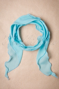 50s Retro Scarf and Headband in Sky Blue