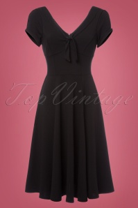 Unique Vintage Natalie Black Swing Dress 102 10 23166 20171201 0002W