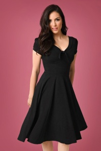 Unique Vintage Natalie Black Swing Dress 102 10 23166 20171201 0008