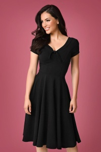 Unique Vintage Natalie Black Swing Dress 102 10 23166 20171201 0006