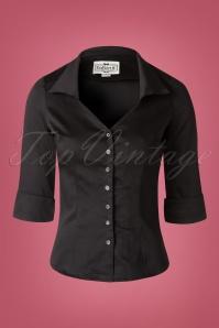 Collectif Clothing Mona Plain Black Top 112 10 16191 20150804 0008W