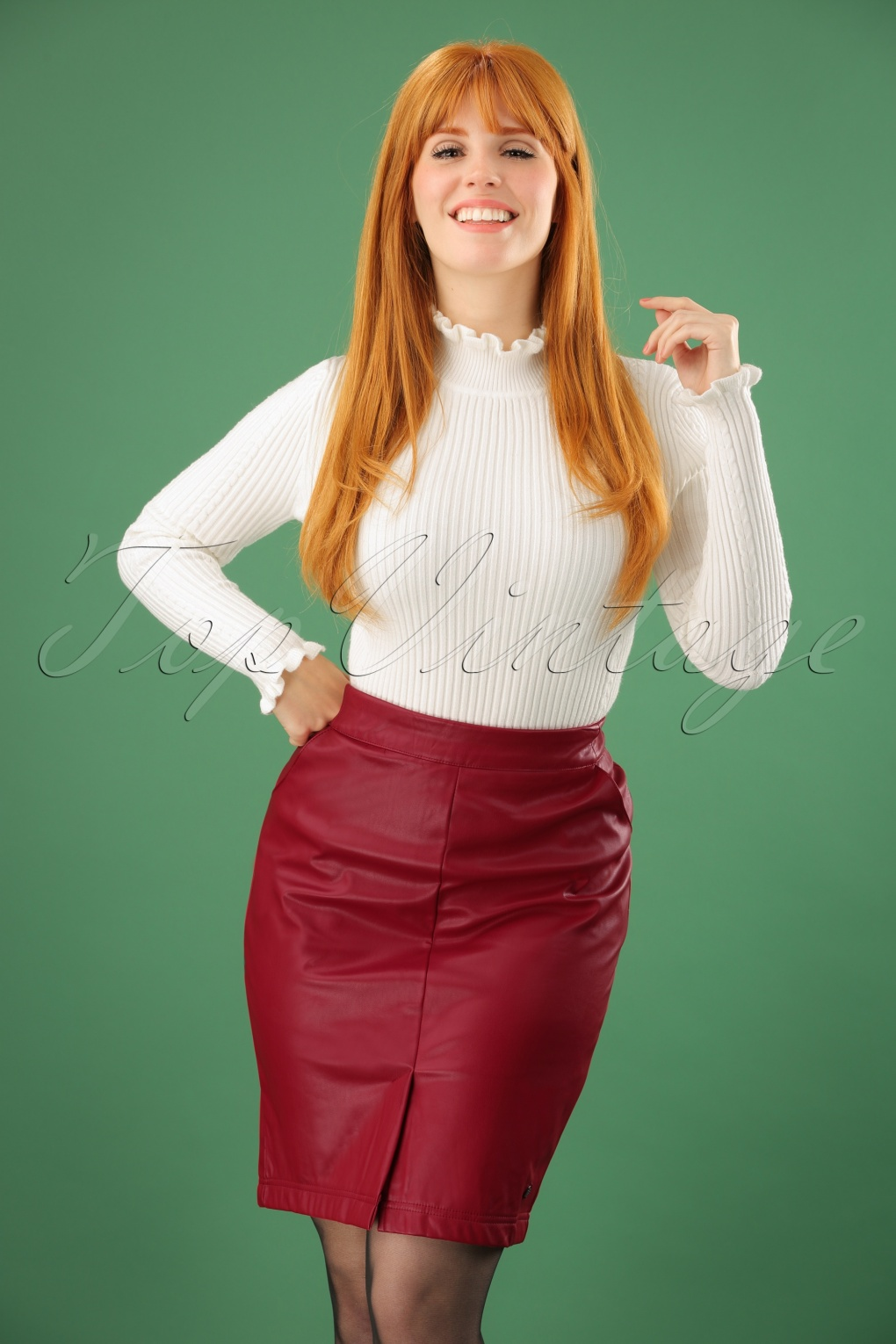 60s Just For A Thrill Skirt In Red