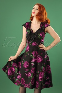 Lady V Purple Rose Swing Dress 102 14 23690 20171106 01W