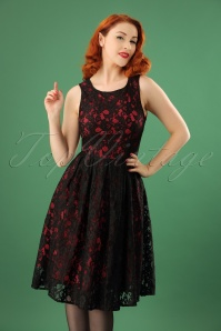 Dolly and Dotty Black and Red Lace Dress 102 10 22981 20171123 1W