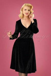 Dolly and Dotty  Black Velvet Swing Dress 122 10 22976 20171124 1W