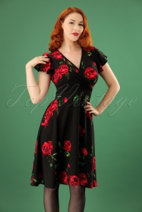 Vintage Chic Crepe Roses Dress 102 14 22748 20171107 1W