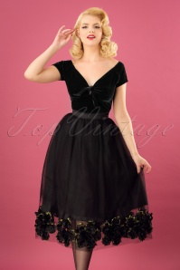 50s Coppelia Swing Skirt in Black