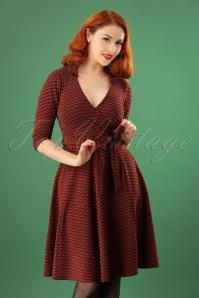 Vintage Chic Collar Wrap Orange Dress 102 27 22588 20171114 01W