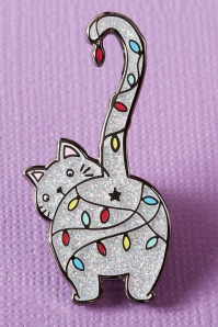 Punky Pins Christmas Kitty Enamel Pin Années 60