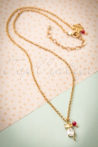 Foxy Ruby Crystal Fox Chain Necklace 300 91 24219 20171204 0003w