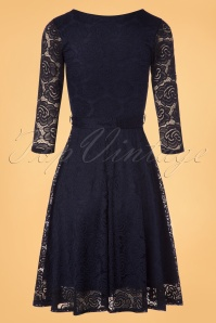 Vintage Chic Navy Lace Swing Dress 102 31 22752 20171206 0013w
