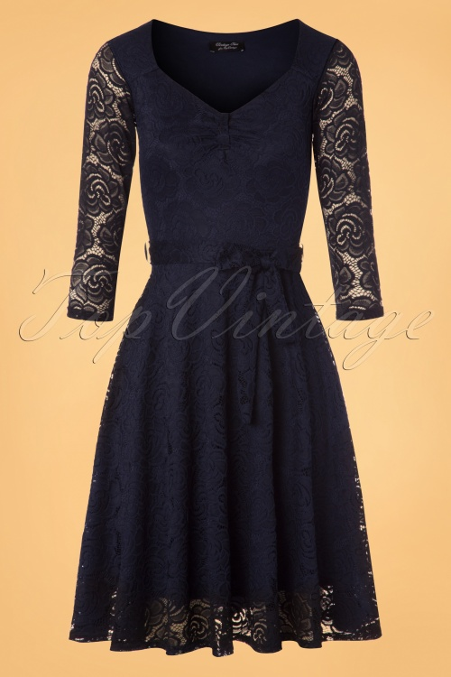Vintage Chic Navy Lace Swing Dress 102 31 22752 20171206 0003w