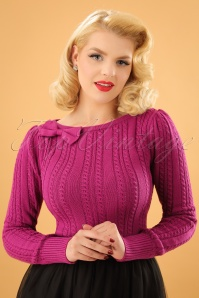 The Escape Bow Top Années 1950 en Rose framboise