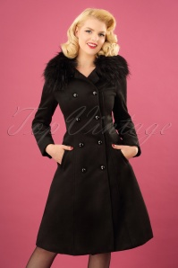 Hearts and Roses Black Faux Fur Coat 152 10 24150 20171115 0021w