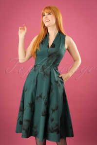 Closet Green Roses Dress 102 40 24007 20171114 1w