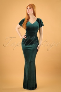 Vintage Chic Velvet Green Maxi Dress 108 40 23991 20171114 1w
