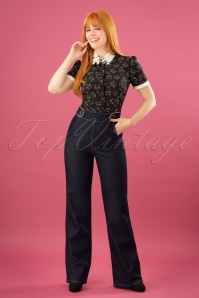 Mademoiselle yeye Sally Denim Trousers 131 30 21595 20170802 0014W