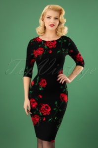 Vintage Chic Waterfall Roses Pencil Dress 100 14 23925 20171114 1w
