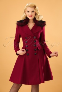 50s Milan Coat in Burgundy
