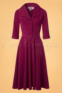 Miss Candyfloss Raspberry Pink Swing Dress 102 22 22132 20170912 0006w
