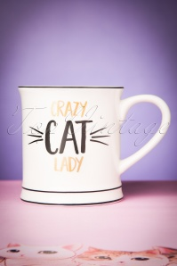 Sass & Belle 60s Metallic Mug Crazy Cat Lady  290 50 24383 20171207 0032w