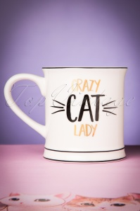 Sass & Belle 60s Metallic Mug Crazy Cat Lady  290 50 24383 20171207 0020w