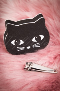Sass & Belle Black Cat Nail Buffer & Clippers 528 10 24385 20171207 0024w