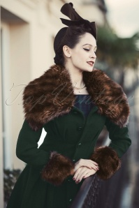 30s Pearl Coat in Dark Green
