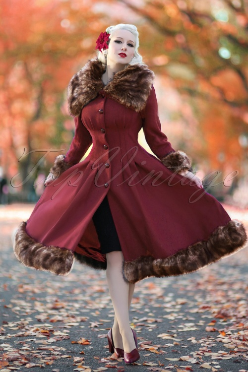 Collectif Clothing Pearl Coat in Wine 18892 20160602 00115 rachelannW
