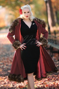 Collectif Clothing Pearl Coat in Wine 18892 20160602 00115 rachelann2W