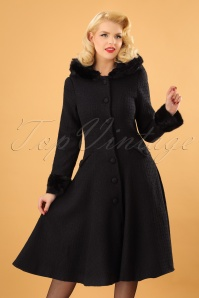 Collectif Clothing Anoushka Black Faux Fur Winter Coat 152 10 16231 20151012 0014 (2)w