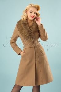50s Fabiola Coat in Beige