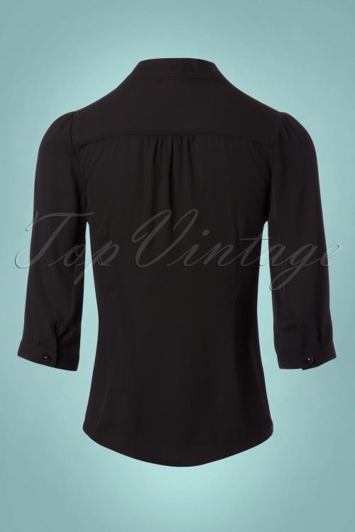 Spiksplinternieuw 50s Fly Away Shirt in Black AU-56