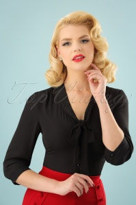 50s Fly Away Shirt in Black