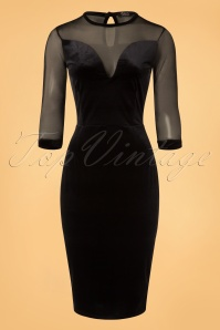 Vintage Chic Black Velvet Dress 100 10 20481 20161212 0002w