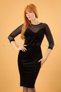 Vintage Chic Black Velvet Dress 100 10 20481 20161212 0002 (2)w