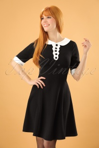 60s Magpie Mini Dress in Black