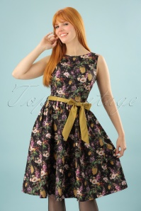 50s Audrey Swing Dress in Botanic Bloom