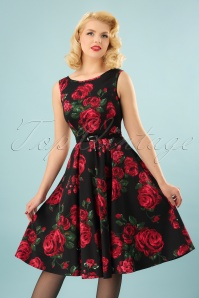 Lady V Hepburn Swing Dress Roses 102 14 15996 20150811 027W
