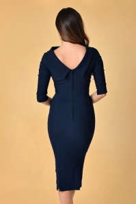 Unique Vintage Lucinda Pencil Dress in Navy 100 31 23169 20171211 0010