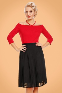 Dolly en Dotty Black Swing Skirt 122 10 22975 model02