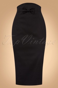Vintage Diva Black Bow Pencil Skirt 24001 07252017 003W