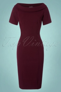 Venus van Chic Burgundy Pencil Dress 23423 20171218 0001W