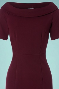 Venus van Chic Burgundy Pencil Dress 23423 20171218 0001V