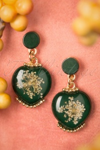 Viva by Tendenza Green Flower Earrings 333 40 23948 20171212 0005w